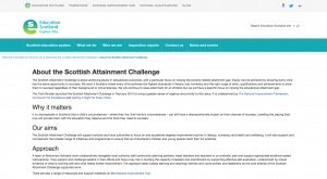 Scottish Attainment Challenge screenshot